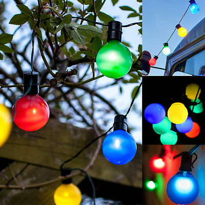 50 x Festoon Party Globe String Lights Multicolour LED Garden Outdoors Lighting