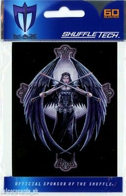 Max Protection Shuffle Tech Sleeves For YuGiOh! Cards :: Dark Angel :: Pkt 60