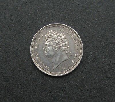 George Iv 1828 Silver Maundy Twopence