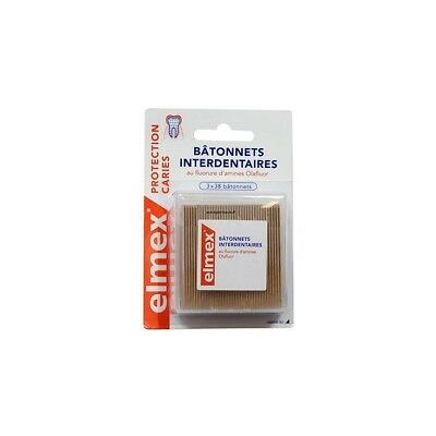 Elmex Protection Caries Bâtonnets Interdentaires 3 x 38 Bâtonnets