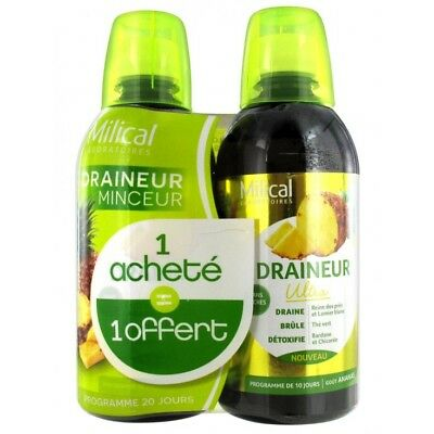 Milical Draineur Ultra Ananas Lot de 2 x 500ml