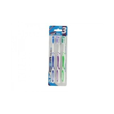 ProWhite Lot de 3 Brosses à Dents Médium Pro White Brush