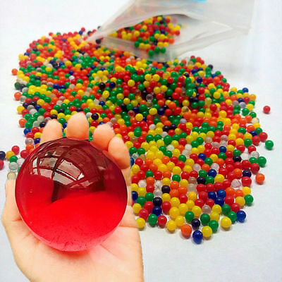 60Pcs Large Beads Orbeez Home Decor Jumbo Kids Water Spa Refills Magic Balls AU