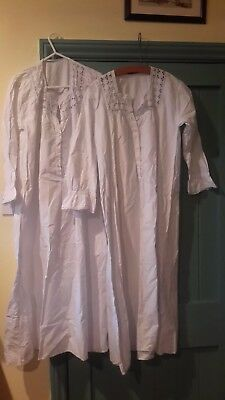Original Victorian Night Dress White   2 included