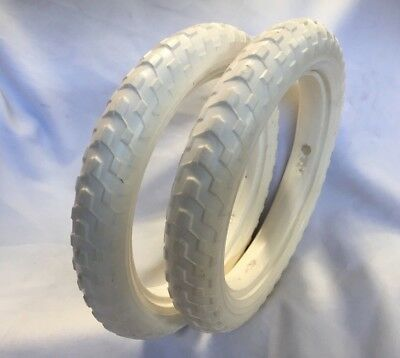 12-1/2 x 2-1/4 Pair Solid Foam Tyres Pram Scooter Buggy Stroller Bicycle BikeEVA