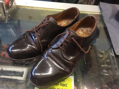 British Army Female Officers Brown Shoes,parade ,warrant Officers Size 4