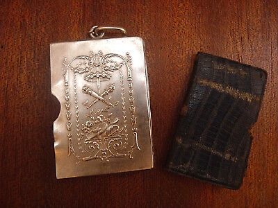 Antique sterling silver lovely Louis XVI style note book aide memoire dance card