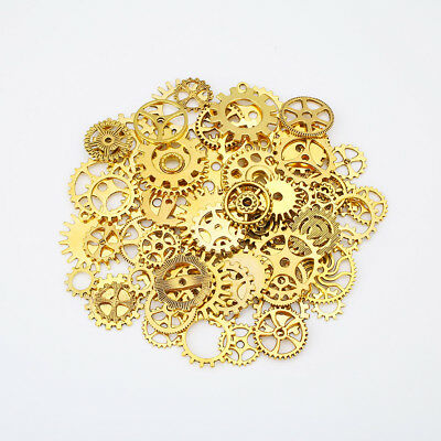 60pcs Steampunk Gears Mixed Packing Alloy Charms Vintage Jewelry Mixed