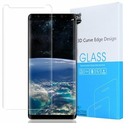 Exact Full Coverage Tempered Glass Screen Protector For Galaxy Note 8 Clear