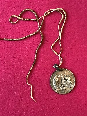 1677 Early English American Indian Peace Medal