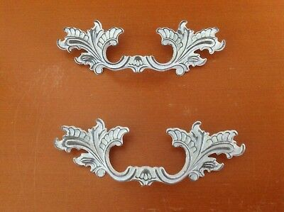 218 Vtg French Provincial Handle Iwhite  Shabby Chic, 2 available