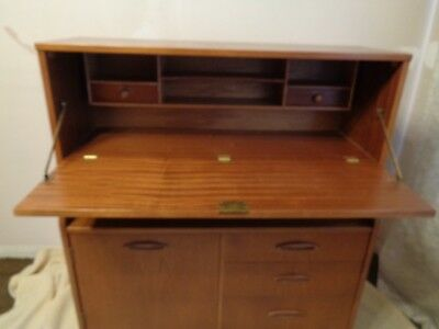 1970's Wooden Vintage Writing Desk Bureau I WILL DELIVER IF NOT TOO FAR