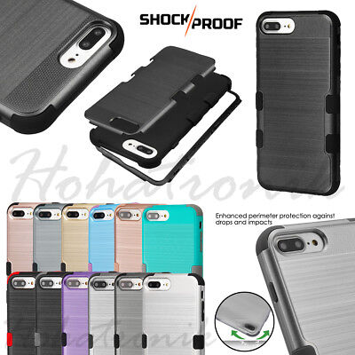 iPhone 7 /8 /7 PLUS Hybrid Armor Shockproof Rubber Rugged Protective Case Cover