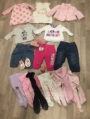 Baby Girl Winter Clothes Bundle 3-6 Months Coat Dress Top Jeans Tights