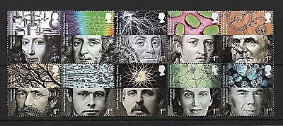 GB Stamps 2010 'Royal Society' sg3026-3035 - Fine used block