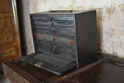Decorative Neslein Vintage Tool Work Box Engineers Cabinet Wooden