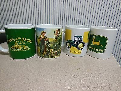 John Deere (Set of 4) Collectible Coffee Mugs By Gibson