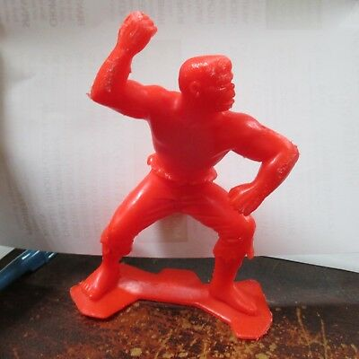 1967 MARX THE INCREDIBLE HULK Plastic Vintage Super Hero Marvel Figure RED