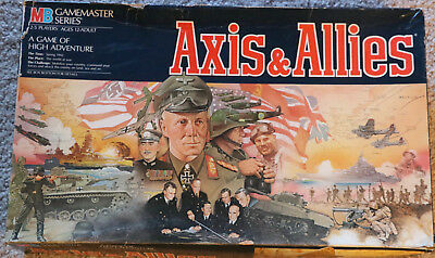 Vintage 1987 Axis & Allies Board Game Milton Bradley Incomplete Parts