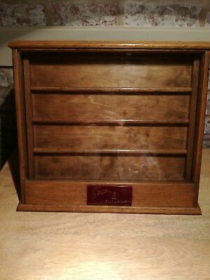 VINTAGE 1930's/40's SHOP COUNTER DISPLAY GLASS FRONTED CABINET