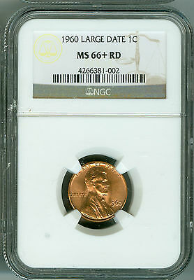 1960 Large Date Cent NGC MS66+ RD Penny, Cherry Red, Rich Luster!