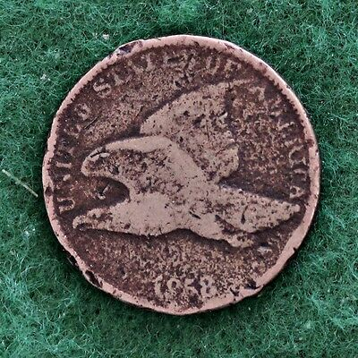 1858 SMALL LETTERS FLYING EAGLE CENT in GOOD (G) CONDITION