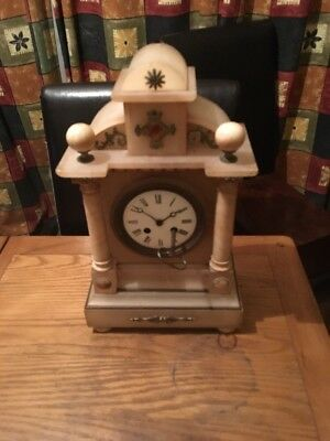 A Vintage French Mantle Piece Clock