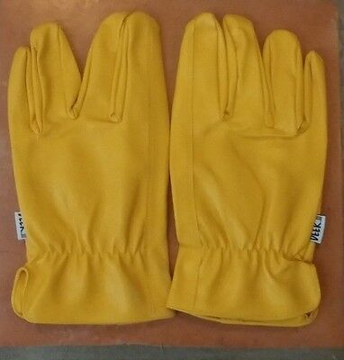 NEW deerskin unlined drivers multi purpose work gloves Size Medium