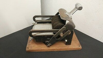 Vintage Antique Wonder Chef Cube Steak Meat Slicer Strip Cutter