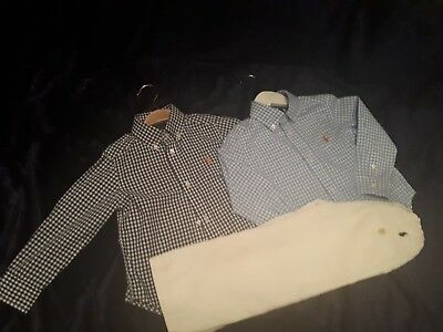 Ralph lauren bundle age3.. 2 shirts and trousers