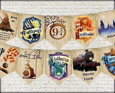 Hogwarts Harry Potter School of Magic Party Bunting/Banner & Ribbon - 3m