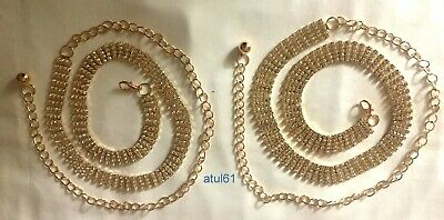 Diamante/Diamonte Ladies Waist Chain/charm Belt ROSE GOLD tone Accessories NEW