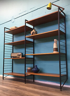 Very Stylish Retro Mid Century Teak Ladderax Shelving System/bookcase