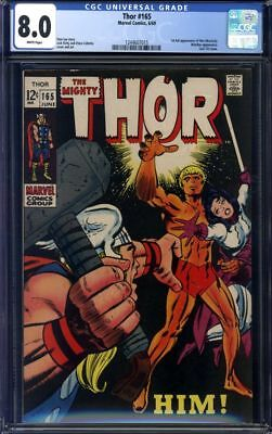 The Mighty Thor #165 CGC 8.0 1st Appearance of Him (Warlock)!!!