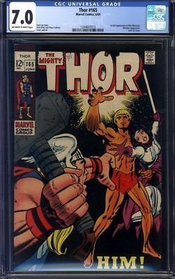 The Mighty Thor #165 CGC 7.0 1st Appearance of Him (Warlock)!!!