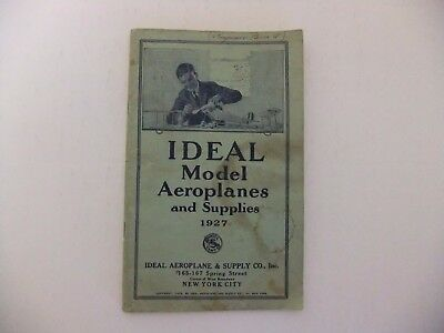 1927 IDEAL MODEL AEROPLANES ( Air planes ) AND SUPPLIES CATALOG