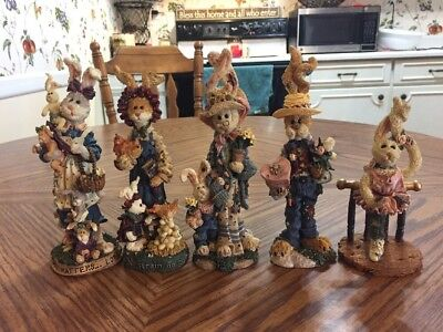 Set Of 5 Boyds Bears & Friends FolkStone Collection