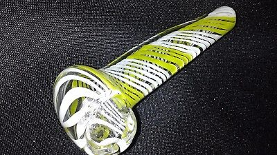 "3"" - 4"" Yellow Twist Collectible Tobacco Smoking Pipe With Smoking Bowl"