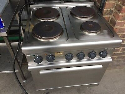Commercial  Catering  3 Phase Electric 4 Ring Cooker / Under Oven