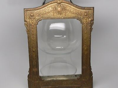 Antique Vintage Copper Brass Covered Silver Picture Frame
