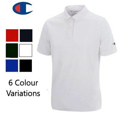 "100% Cotton Men's Branded ""CHAMPION"" Polo Top Polo Shirt Quality Licensed Top"