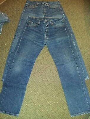 2 Pairs 501xx Levis Jeans 35 x 34 Made in USA