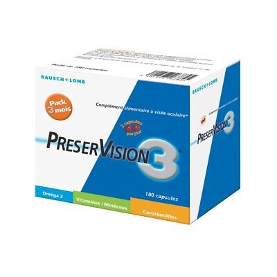 Bausch + Lomb PreserVision 3 Pack 3 Mois 180 Capsules