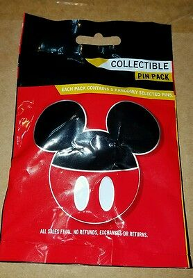 Disney Pin Pack MICKEY MOUSE ICON MYSTERY POUCH (5) Sealed  FREE SHIPPING
