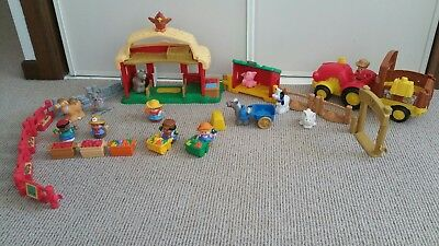 Fisher Price Little People Farm with Muscial Tractor and farm yard noise barn.