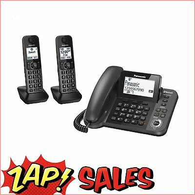 5% off with Code: Panasonic Combination Cord/less Telephone Twin KX-TGF382AZM