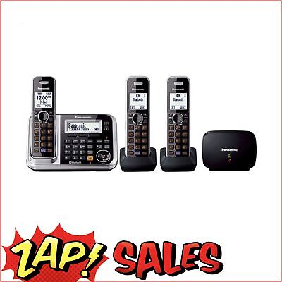 12% Off! Panasonic Triple Handset Cordless Telephone with Mobile Link & Repeater