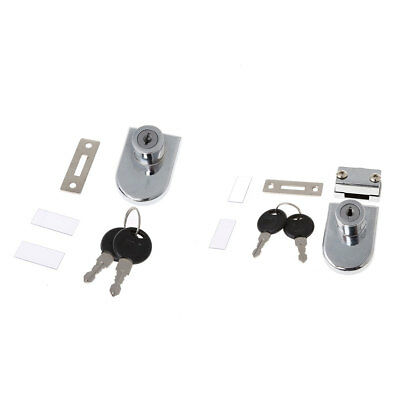 Showcase Display Cabinet Glass Single / Double Door Lock Replacement with 2 Keys