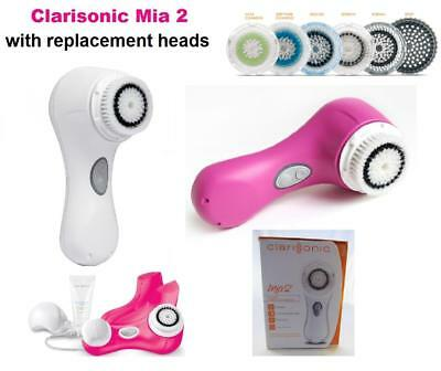 Clarisonic MIA 2 Sonic MIA2 Face Body Skin Cleansing System with Gel White Pink