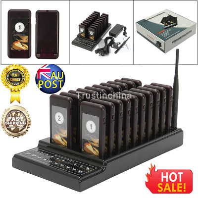20 Restaurant Coaster Pager Guest Call Wireless Paging Queuing Calling System t